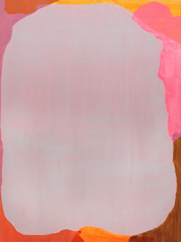 BALEM LETT  Pink  2014 oil on aluminium composite board 49 ×37 cm