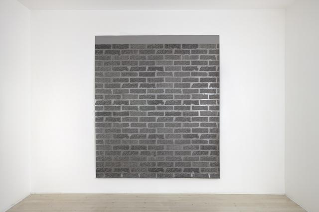 ANNA KRISTENSEN  Brick Wall 2014  silkscreen ink and acrylic on linen 240 ×208 cm