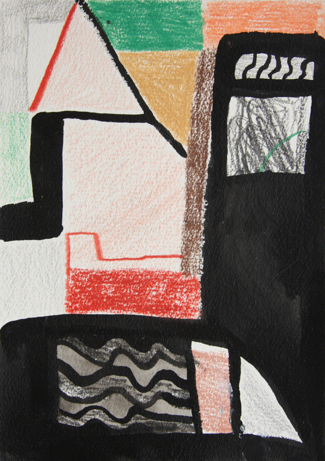 MATTHEW HOPKINS Nocturne 1, Candle Holder (acrylic and varnish on air drying clay) Candle, Drawing (ink and pencil on paper, unframed), Bag (linen and rope) edition 3 + 2 APs