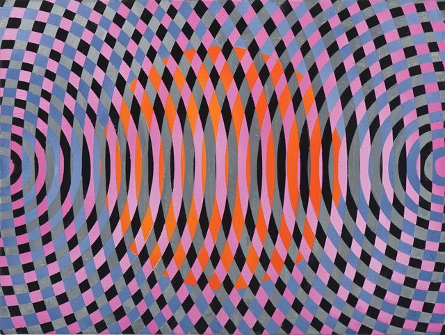JOHN ASLANIDIS  Sonic sub fragment no. 27  2013 oil and acrylic on linen 30 ×40 cm