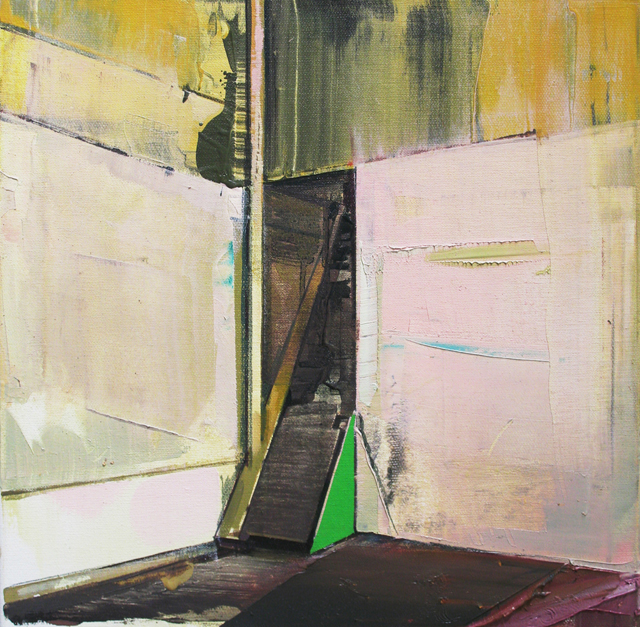 DAVID RALPH  Abandoned Staircase  2013 oil on canvas 40 ×40 cm