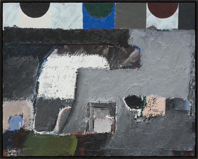 JAKE WALKER  Untitled painting 6  2013 oil on board (framed) 51 ×41 cm