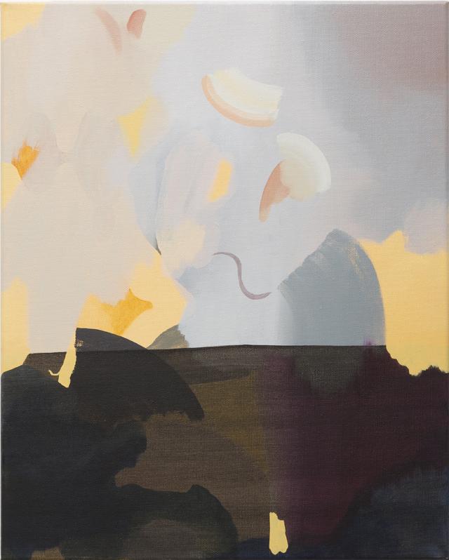 TONEE MESSIAH  Slope  2014 oil on linen 51 × 41 cm