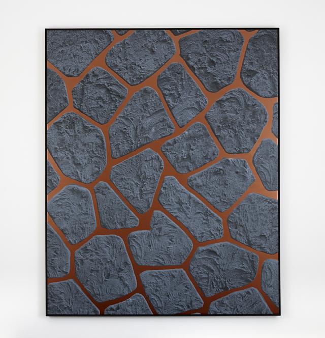 ANNA KRISTENSEN  Crazy Wall  2014 silkscreen ink and acrylic on canvas  233 ×189 cm