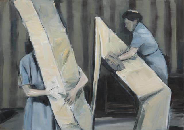 JELENA TELECKI  Gregor  2012 oil on canvas paper 42 ×59.4 cm