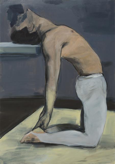 JELENA TELECKI  Narcis  2012 oil on canvas paper 59.4 ×42 cm