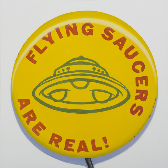 ADAM NORTON  Flying Saucers Are Real  2013 vinyl on canvas 122 × 122 cm