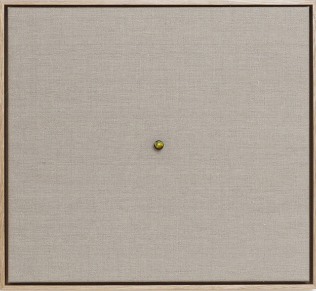 WHAT  Liquid Data (detail) 2013 marble and gesso on linen in Tasmanian oak frame,32 panels 48 ×52.5 cm