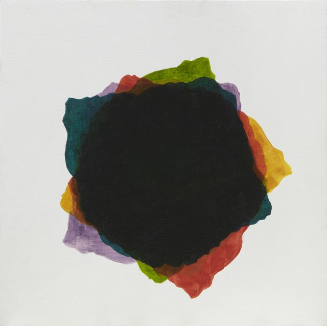BELEM LETT  A black dot  2013 oil on marine ply (framed) 32 ×32 cm
