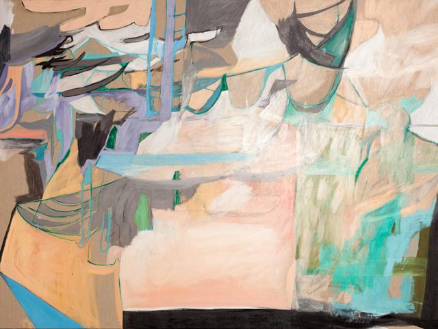 AMBER WALLIS  Gum colours / limb flags  2013  oil on linen 150 ×200 cm