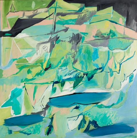 AMBER WALLIS  Upside down landscape  2013  oil on canvas 100 ×100 cm