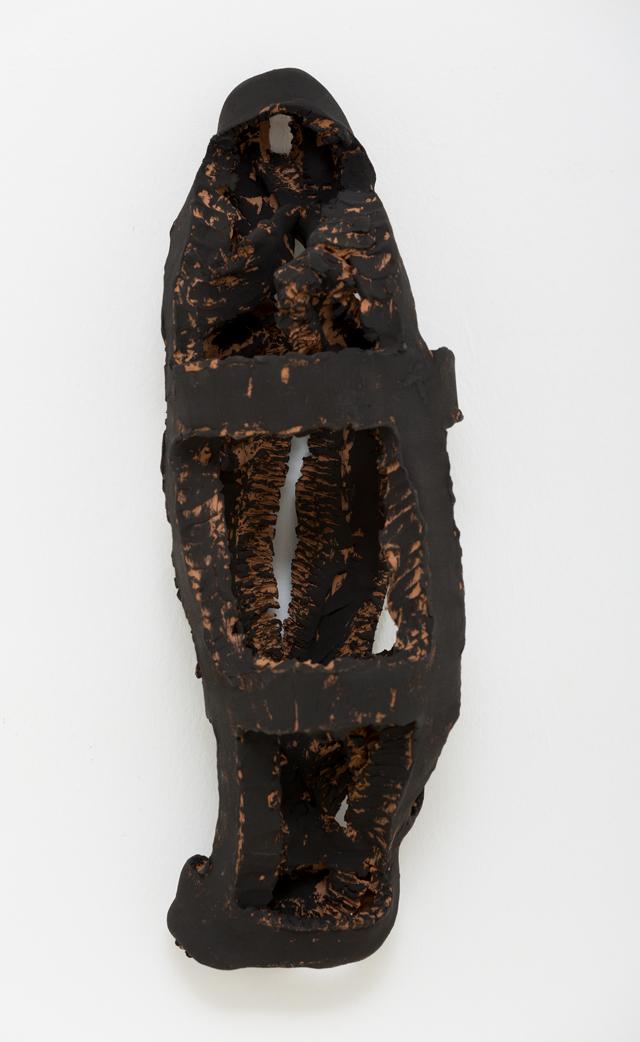 PAUL WILLIAMS  Dead End  2013 hand-built earthenware with underglaze  32 ×10 ×10 cm