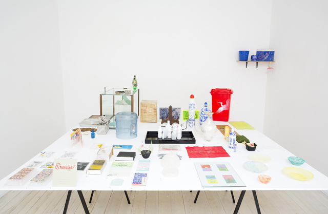 Installation view of Sarah Goffman's artworks