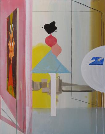 JULIAN HOOPER   Untitled 2  2012 acrylic on linen 106.5 ×83.4 cm