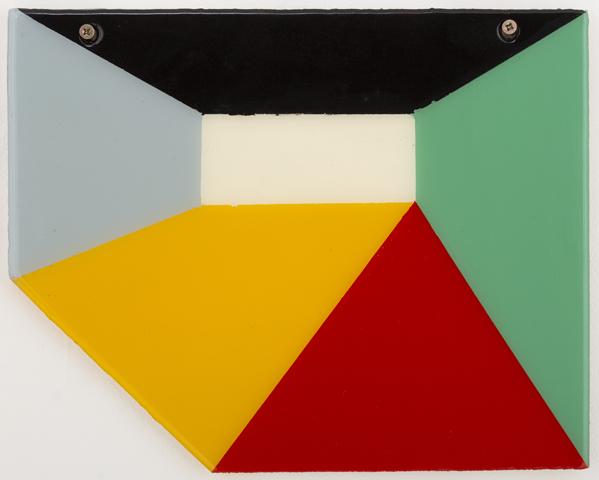 SIMON BLAU  Untitled 3  2012 enamel and resin on board 24 ×30.5 cm