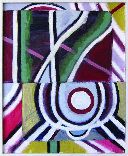 SIMON BLAU  Walk  2012 acrylic on canvas 51 ×40.5 cm