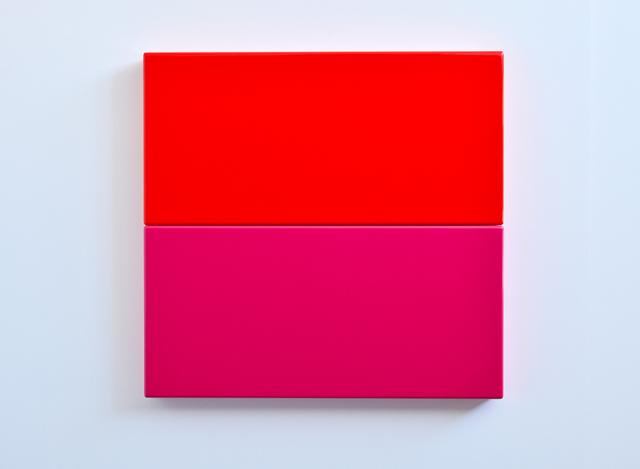 SUZIE IDIENS  Red Pink  2012 MDF, Polyurethane 69 ×80 ×7 cm
