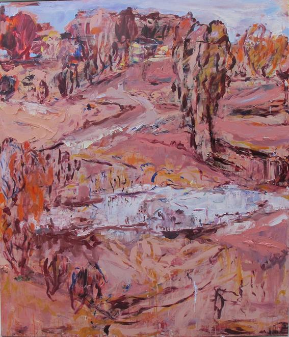 CRAIG WADDELL  The Waterhole  2013 oil on linen 180 ×160 cm