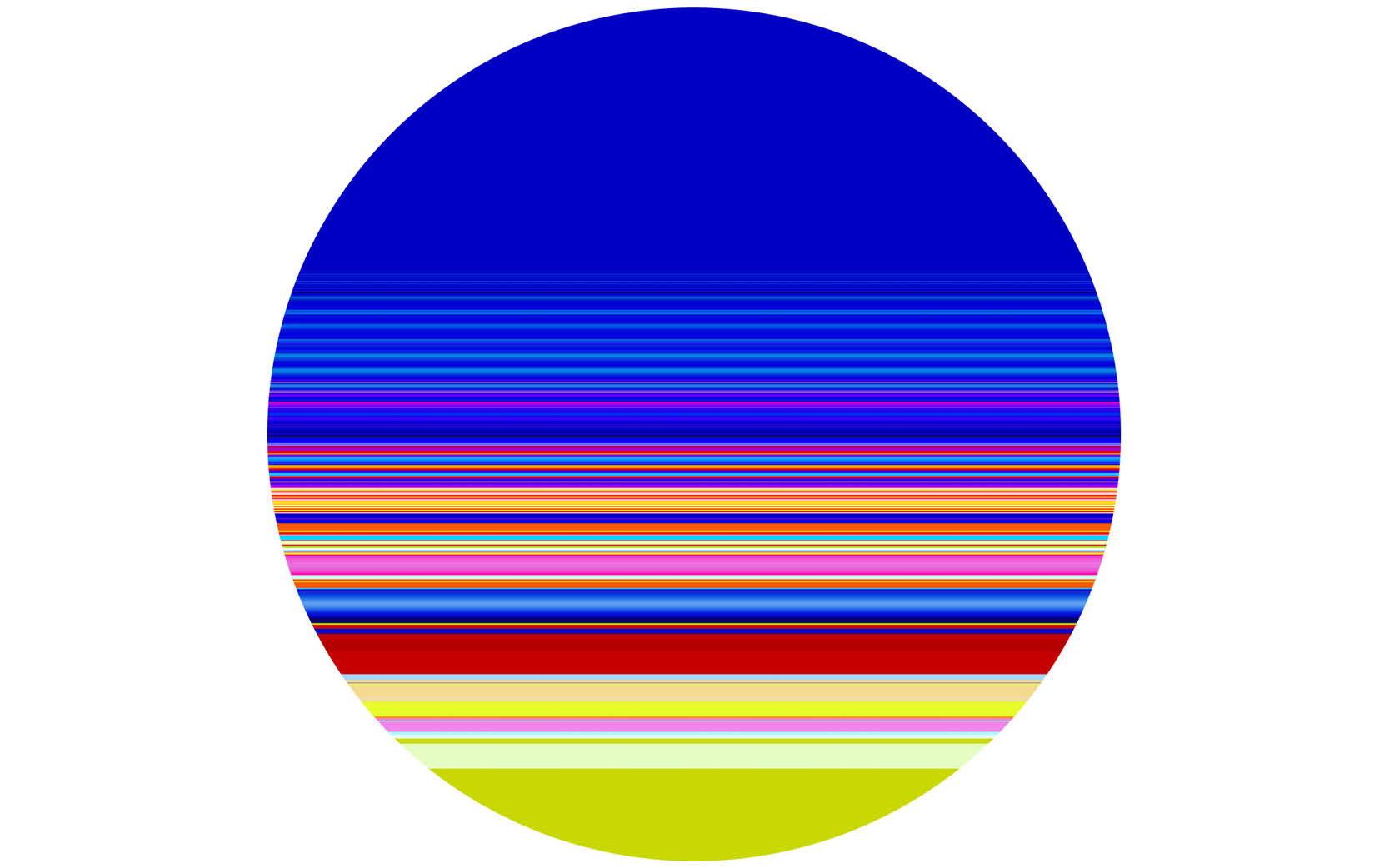 PAUL SNELL  is a finalist in the 2018 Wyndham Art Prize with  Elliptical # 201701 , lambda print mounted to 4.5mm plexiglas, 118 cm diameter