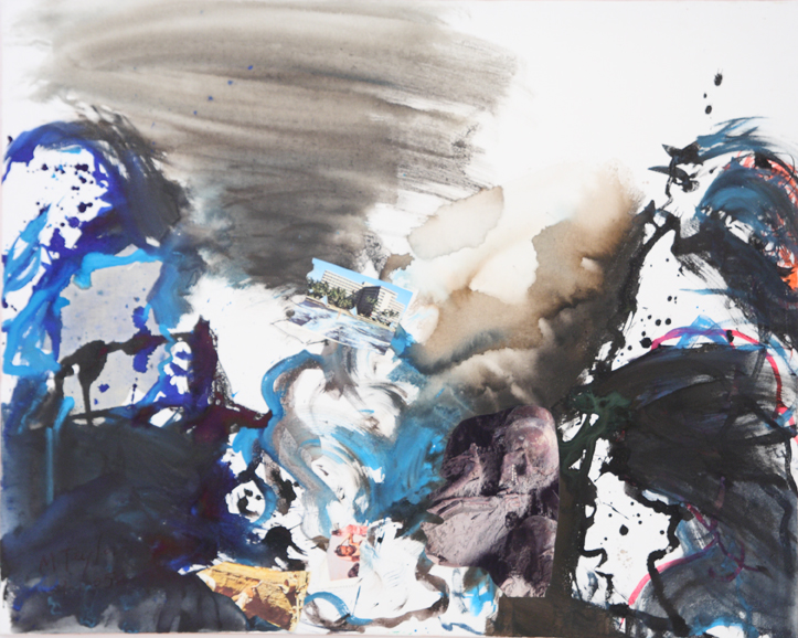 MICHAEL TAYLOR  Tsunami  2005 mixed media on stretched cotton 80 ×100 cm