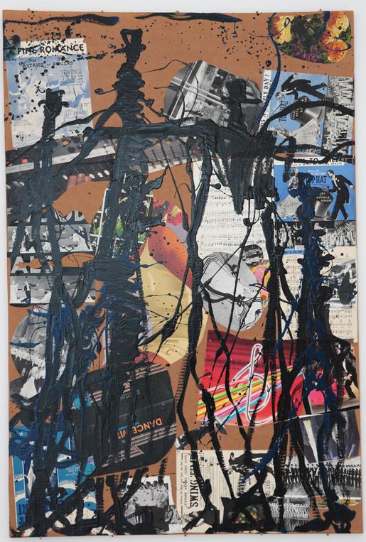 MICHAEL TAYLOR  Dance Men 2009 mixed media on cardboard 155 ×104 cm