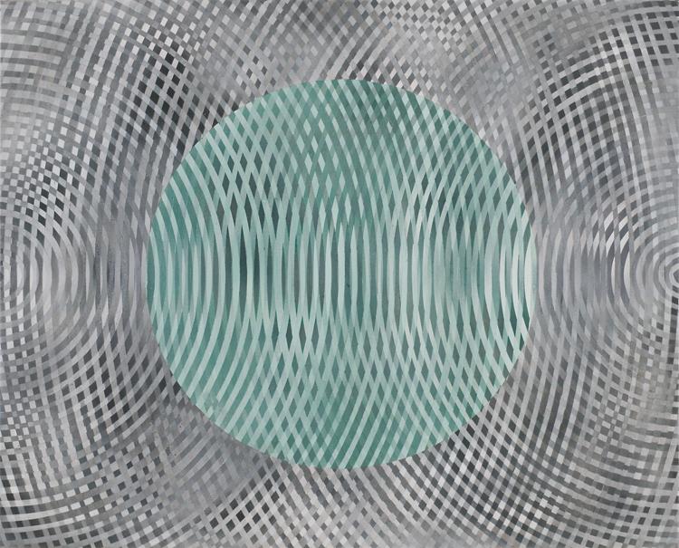 JOHN ASLANIDIS  Sonic Fragment No.30  2006 acrylic on canvas 66.5 ×81.5 cm