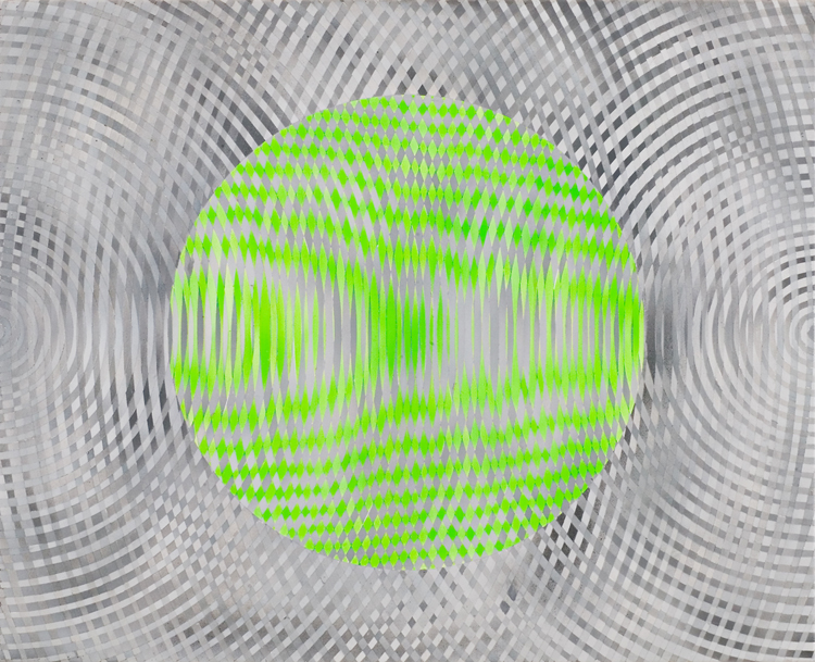 JOHN ASLANIDIS  Sonic Fragment No.32  2006 acrylic on canvas 66.5 ×81.5 cm
