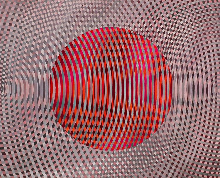 JOHN ASLANIDIS  Sonic Fragment No.37  2006 oil and acrylic on canvas 66.5 ×81.5 cm
