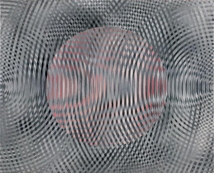 JOHN ASLANIDIS  Sonic Fragment No.34  2006 oil and acrylic on canvas 66.5 ×81.5 cm