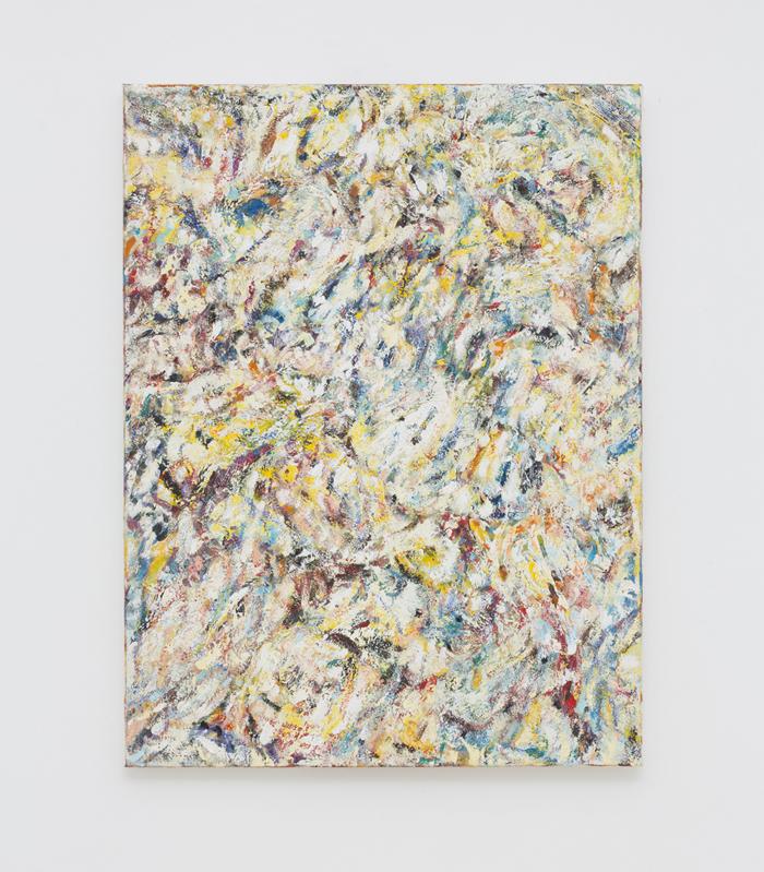 SIMON GARDAM  Yellow Do, Yellow Don't  2017 oil and pastel on canvas 61 × 46 cm