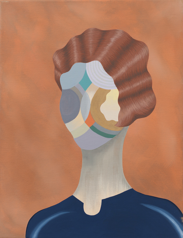 MICHELLE HANLIN  Finger Wave  2011 acrylic on canvas 45.5 × 35.5 cm