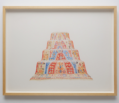 ANNA KRISTENSEN Pyramid (East) 2010 colour pencil on paper 74 × 94 cm