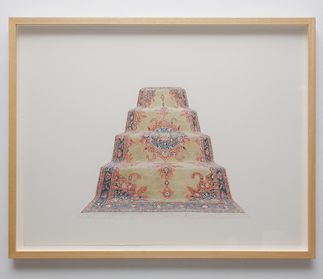 ANNA KRISTENSEN  Pyramid (South)  2010 colour pencil on paper 74 × 94 cm