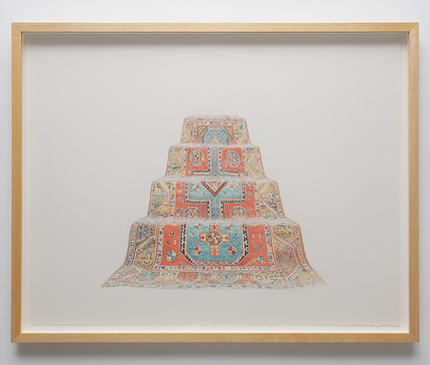 ANNA KRISTENSEN Pyramid (West) 2010 colour pencil on paper 74 × 94 cm