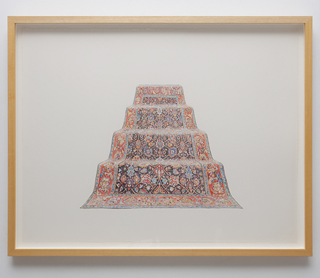 ANNA KRISTENSEN  Pyramid (North)   2010 colour pencil on paper 74 × 94 cm