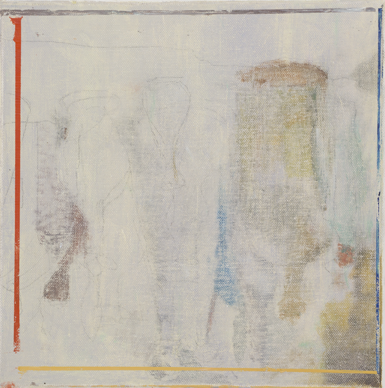 JELLE VAN DEN BERG  Trip  2015 oil on canvas 30.5 × 30.5 cm