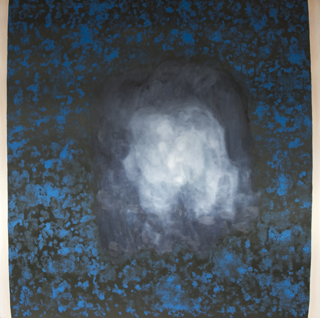 PETER ALWAST  The Universe  2015 oil on polycotton 150 ×150 cm