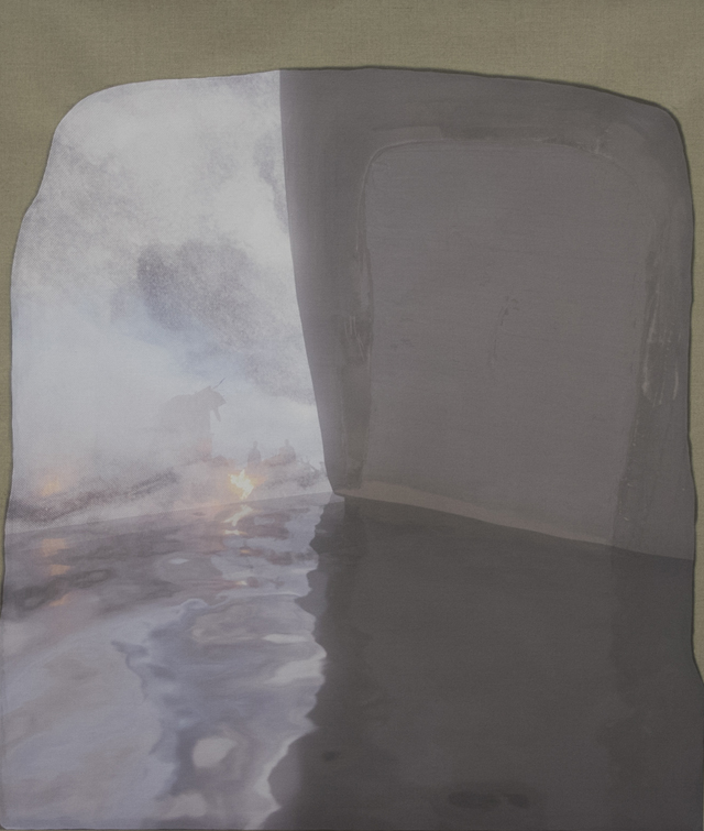 PETER ALWAST  View From Inside A Cave  2015 UV cured ink on linen 110 ×100 cm
