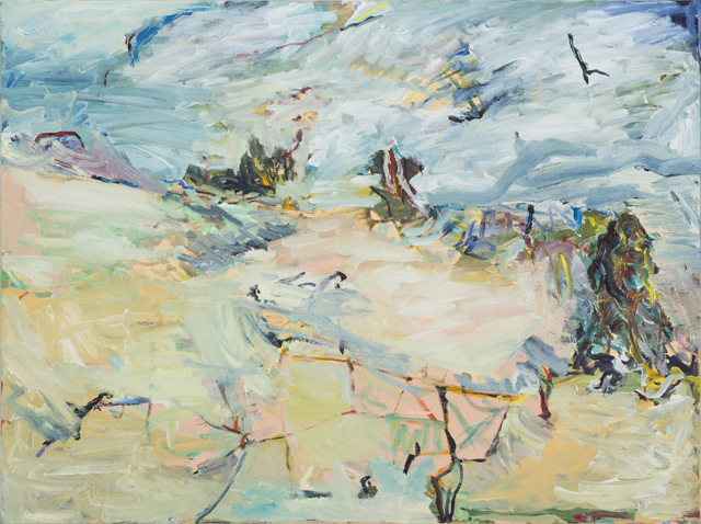 MICHAEL TAYLOR  Against the wind  2013 oil and oil stick on linen 120 ×160 cm