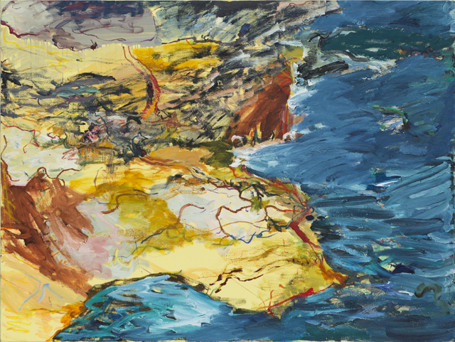 MICHAEL TAYLOR  Cliff walk  2013 oil and oil stick on linen 137 ×182 cm