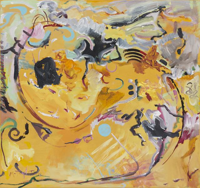 MICHAEL TAYLOR  Farmland  2013 oil and oil stick on linen 76 ×81 cm