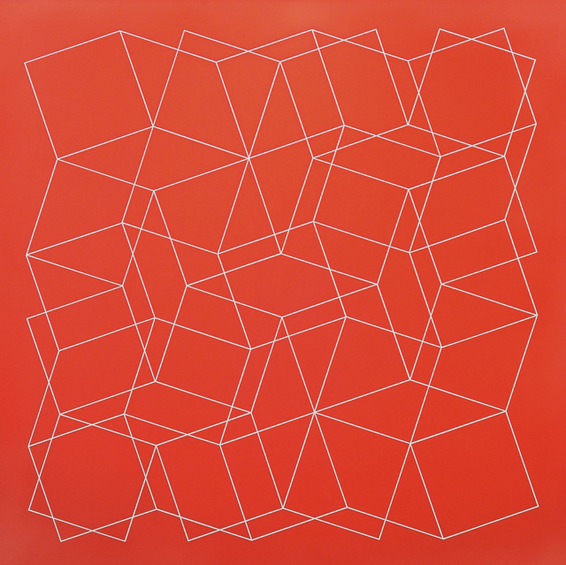 ADRIAN MCDONALD  Squaredance  2012 flash on claybord 91.5 ×91.5 cm