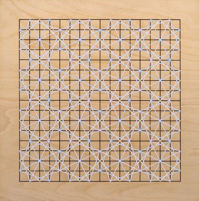 ADRIAN MCDONALD  Untitled 2  2012 flash on plywood 40 ×40 cm