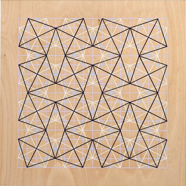 ADRIAN MCDONALD  Untitled 1  2012 flash on plywood 40 ×40 cm