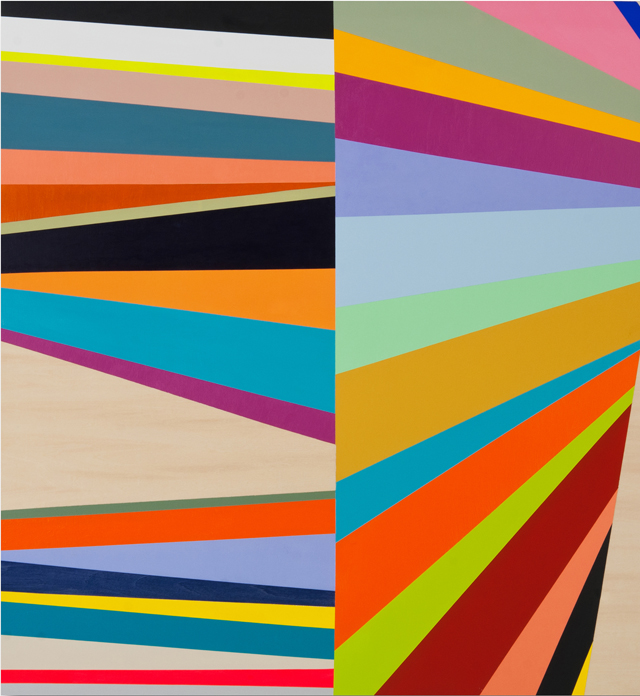 KYLE JENKINS  Position Point #25  2012 acrylic on board 70 × 65 cm