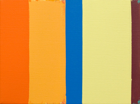 MICHAEL GRAEVE  Sequence and Simultaneity, Front and Side, No. 15  2007-2011 oil on linen 31 × 41 cm