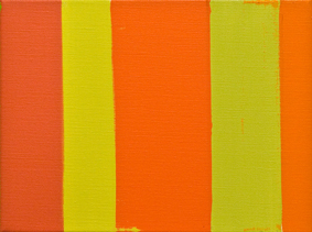 MICHAEL GRAEVE  Sequence and Simultaneity, Front and Side, No. 6  2007-2011 oil on linen 31 × 41 cm
