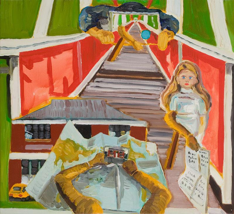 MOYA MCKENNA  One Journey  2007 oil on canvas 40 ×45 cm