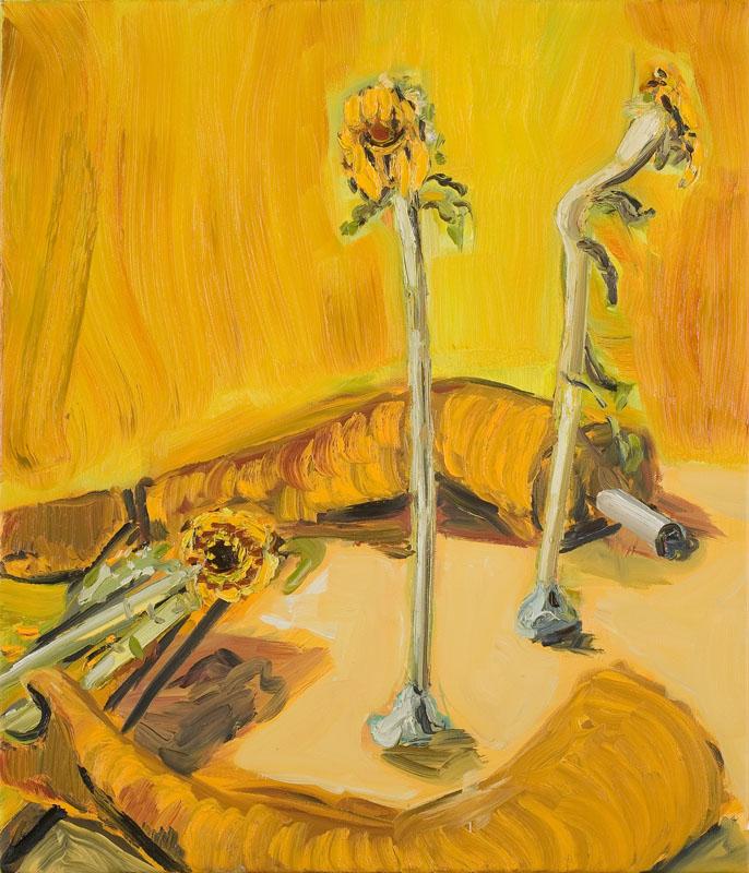 MOYA MCKENNA  Stuck With Death  2007 oil on canvas 71 ×61 cm