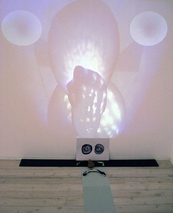 MATTHEW HOPKINS   The Dead Lights of IT's Brain 2007 DVD & sculptural installation